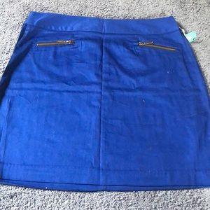 Royal blue Maurices skirt with zipper pockets